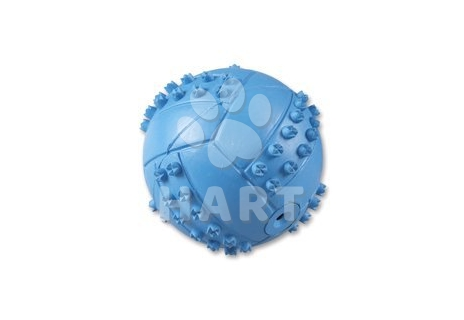 Míček modrý, nebo žlutý- tvrdá guma, dutý, 6cm