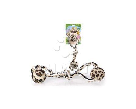 Přetahovadlo s balonky -Jungle Toy osma se 2-ma tenisáky, velikost: 33 cm