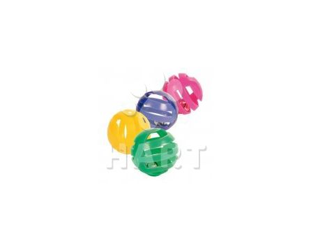 Plastový míček s rolničkou prům.cca4 cm