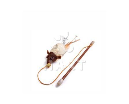 Myš na prutě s catnipem (šantou), vel.18cm