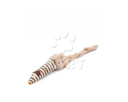 Sisalová myš dlouhá pruhovaná, vel. 28cm
