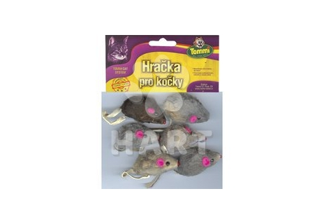 Myška malá mix barev, velikost 5cm, balení  6ks/bal