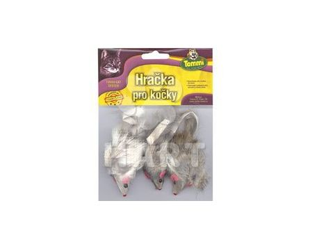 Myš střední chlupatá, velikost 6cm/3 ks v balení