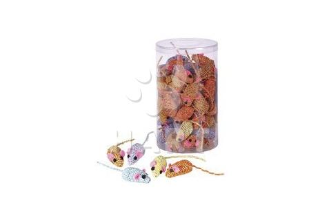 Myška Twisty pro kočky, různé barvy, velikost 4,5 cm