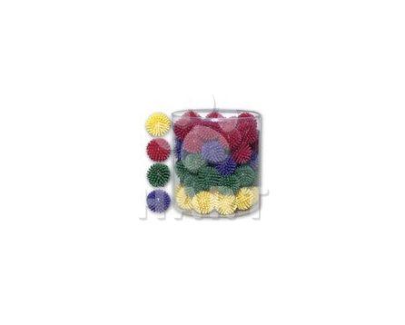 Ježatý míček malý,různé barvy, průměr 3 cm