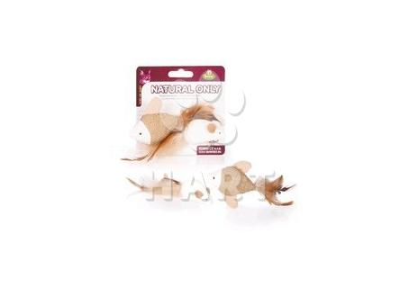 Hračka Natural Only - Rybka + myška, vel.4x5cm