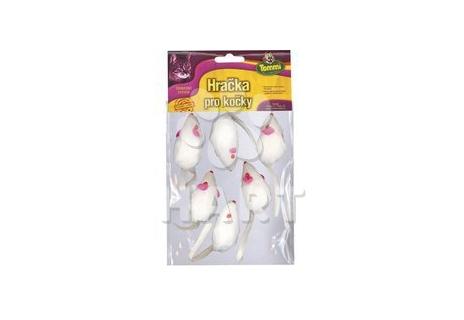 Myška malá bílá, velikost 5 cm                       1ks