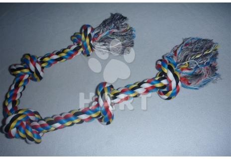 Bavlněný uzel XXXL vel.100cm/ průměr lana 3cm, 5uzlů            1ks
