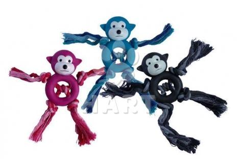 """Opička s uzly z tvrdé gumy vel. 8,5""""(22cm)"""