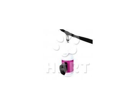 Plastový zásobník na sáčky na trus, dvoubarevný+1role