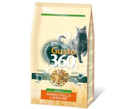 Benessere cat GUSTO 360 Adult mix hovězí, kuřecí, zelenina  20kg