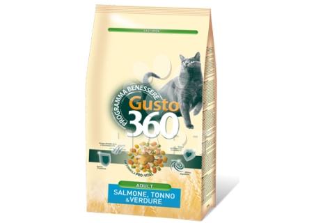 GUSTO 360 Adult cat mix losos, tuňák, zelenina  20kg