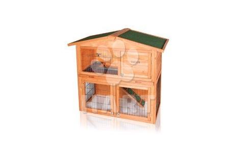 """Dřevěný domeček pro králíka s výběhem """"EPONA"""", vel.102x52x100cm"""