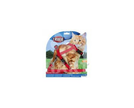 Postroj nylon. pro kočku s vodítkem XL, 34-57 cm/13mm, 1,20m