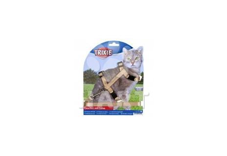 Postroj s rychlouzávěry + vodítko na kočku vel. 26-43cm/10mm, dl.vodítka 1,2m