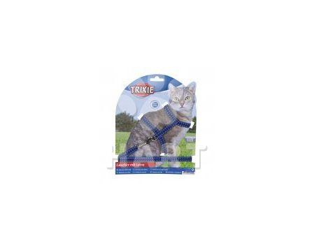 Reflexní postroj s vodítkem na kočku 22-42cm/10mm 1,2m
