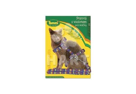 Postroj s vodítkem pro kočky malý(š.10 mm x 20/30 cm)