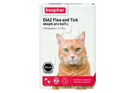 Beaphar Diaz antiparazitní obojek pro kočky  35cm