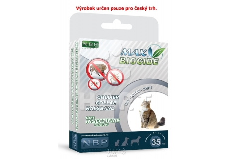 Antiparazitní obojek Max Biocide Collar Cat 42cm