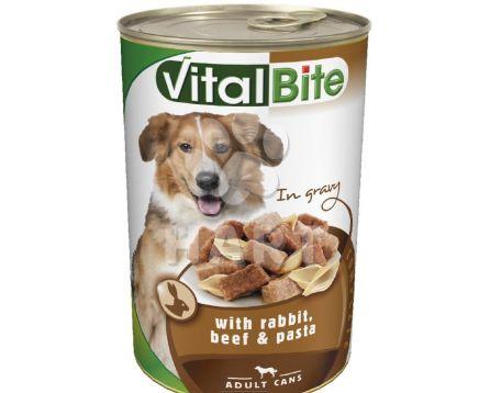 VitalBite kousky - králík+hovězí+těstotiny pro psy  1240g
