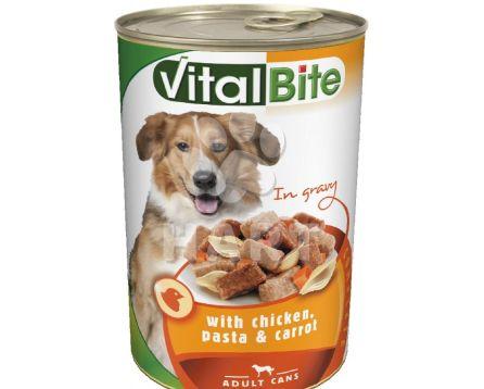VitalBite kousky - kuře+těstotiny+mrkev pro psy  1240g