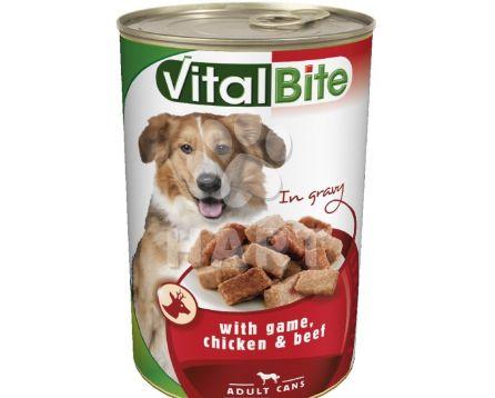 VitalBite kousky -zvěřina+kuře+hovězí pro psy  1240g