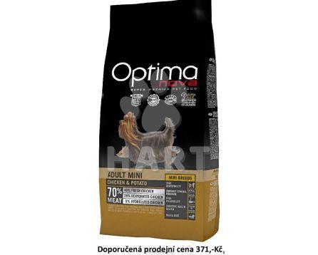 OPTIMAnova dog ADULT MINI -kuře - GF-bez OBILOVIN, pro malá a trpaslíčí plemena     2kg