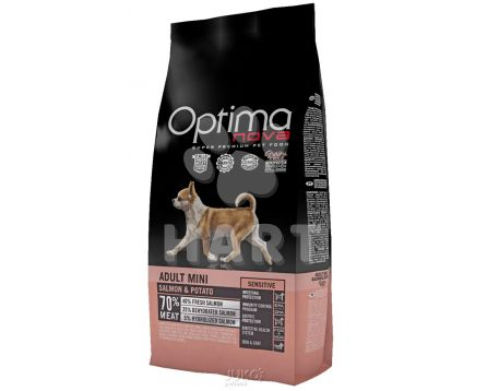 OPTIMAnova dog ADULT MINI SENSITIVE  GF Salmon(bez obilovin, losos)  2kg