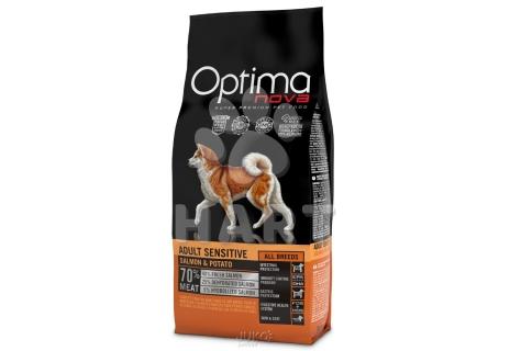 OPTIMAnova dog ADULT SENSITIVE GF  Salmon(bez obilovin, losos) - citlivá pokožka a zažívání   12kg