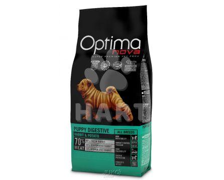 OPTIMAnova dog PUPPY DIGESTIVE GF Rabbit(bez obilovin, králík) pro štěňata s citlivým trávením, alergiky   12kg