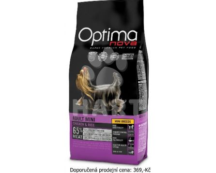 OPTIMAnova dog ADULT MINI -kuře, pro malá a trpaslíčí plemena     2kg
