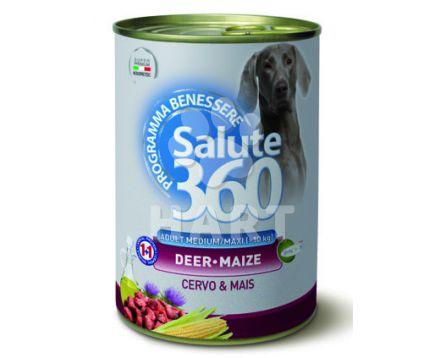 Konzerva  SALUTE 360 dog adult pro citlivé psy -  95% JELENÍHO MASA   400g