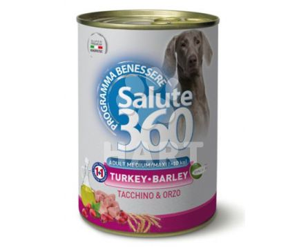 Konzerva  Salute 360  adult pro citlivé psy -  94% KRŮTÍHO MASA   400g
