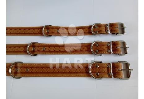 Obojek kožený typ HERRY š.35mm, dl.60cm