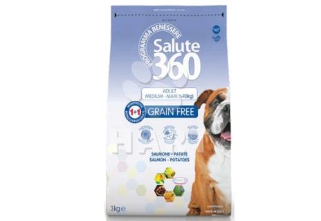 SALUTE 360 adult GF(bez obilovin)  LOSOS  med./max. 12Kg