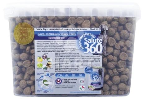 SALUTE 360 adult KACHNA med/maxi 5L + konzerva ZDARMA + odměrka ZDARMA