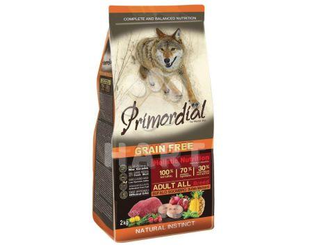 PRIMORDIAL Adult Buffalo&Mackerel( bůvol a makrela) pro dospělé psy  12kg