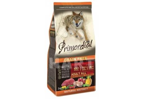 PRIMORDIAL Adult Buffalo&Mackerel( bůvol a makrela) pro dospělé psy   2kg