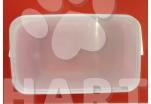 Kbelík hranatý (dóza), s víkem, průhledný, obsah 5litrů       1ks