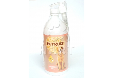 PETKULT lososový olej 1000ml s pumpičkou