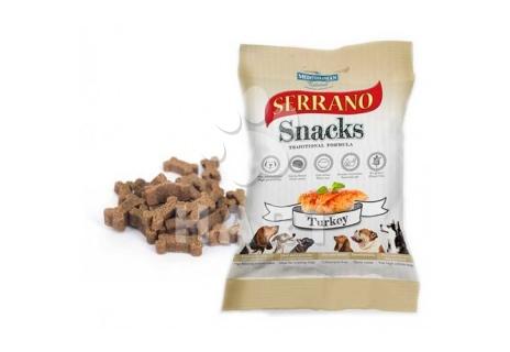 Pamlsky měkké Serrano Snack for Dog-Turkey(krůtí) 70% masa   100g 1bal