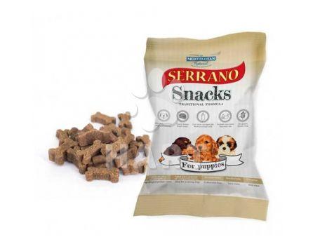 Pamlsky měkké Serrano Snack for Dog-Puppies(pro šťeňata) 60% masa 100g 1bal