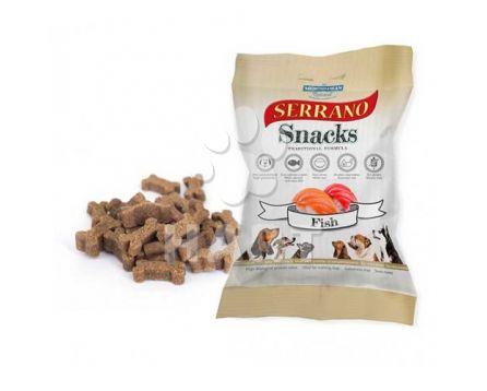 Pamlsky měkké Serrano Snack for Dog-Samon+Tuna(losos a tuňák) 70% masa  100g 1bal