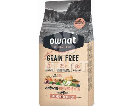 OWNAT Dog JUST GRAIN FREE Salmon&Seafood(losos), bez obilovin, 65%masa     14kg