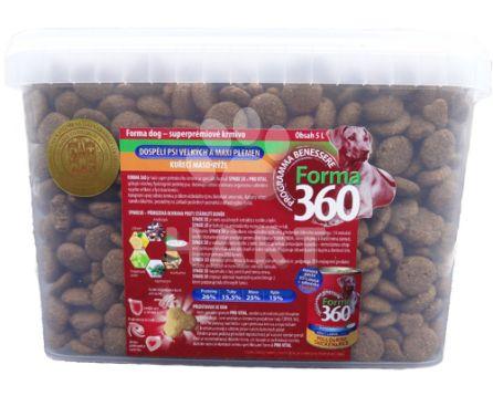 FORMA 360 dog Adult LARGE Kuře + rýže  5L + masová pasta + odměrka zdarma