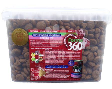 FORMA 360 dog adult MAXI  JEHNĚ+rýže  5L + masová pasta + odměrka zdarma