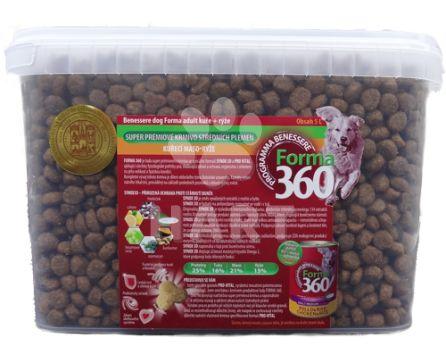 FORMA 360 dog Adult MEDIUM Kuře+rýže 5L + masová pasta + odměrka zdarma