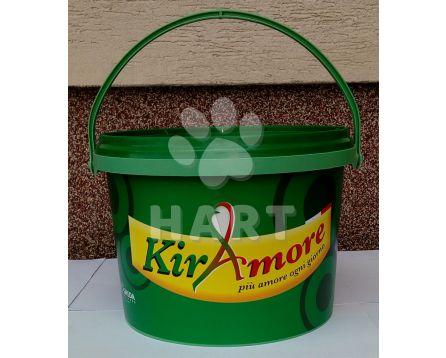 Kbelík s víkem obsah 5litrů (cca3kg granulí), zelený s potiskem 1ks