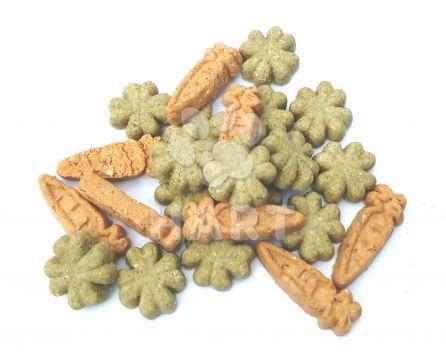 Pamlsky CARROT CLOVER MIX - mrkvičky a čtyřlístky pro hlodavce 1kg