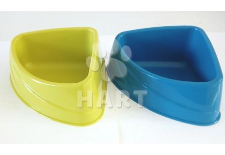 Miska rohová plastová velká 24,5x19,9x9,5cm